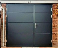 Leicester based CMS Doors supply and fit Sectional Garage Doors, Roller garage doors and Alluguard Garage Doors acorss Leicestershire, Nottingham, Derbyshire Grey Garage Doors, Side Hinged Garage Doors, Diy Garage Door, Garage Door Styles, Garage Door Design, Garage Door Repair, Garage House, Garage Ideas, House Gate Design