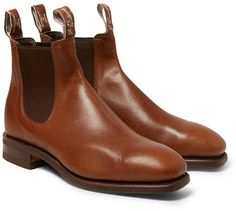 $495, Rm Williams Leather Chelsea Boots by Roland Mouret. Sold by MR PORTER. Click for more info: http://lookastic.com/men/shop_items/143319/redirect