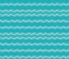 Blue Waves fabric by vannina on Spoonflower - custom fabric