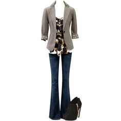 Barrister Blazer, Ingenue Cami, Baby Boot Jean #CAbi #Fall2012