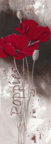 I Love Poppies Art Print