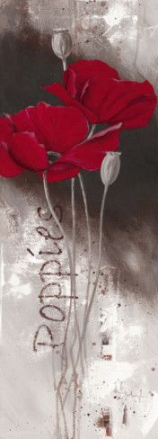 I Love Poppies Art Print