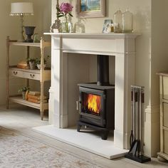 Home - Fireplace & Stove Centre Dorchester Wood Burner Fireplace, Home Fireplace, Living Room With Fireplace, Fireplace Surrounds, Fireplace Design, My Living Room, Fireplace Ideas, Inglenook Fireplace, Fireplace Inserts