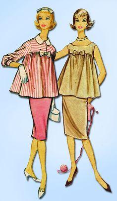 1950s Vintage McCall's Sewing Pattern 4937 Uncut Misses Maternity Suit Sz 14 34B