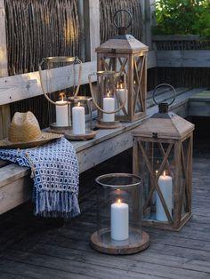 beach house candle light
