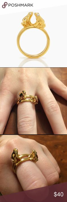 Kate Spade Prince Charming Kissing Frog Rings Sz 7 Kate Spade Prince Charming Kissing Frog Rings Size 7. Part of the bridal collection from several years ago. Darling and whimsical statement piece. Slight wear on bottom of rings as pictured. Feel free to make an offer! kate spade Jewelry Rings
