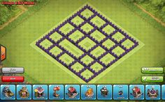 Clash of Clans Town Hall 8 Crystal Wall Layout