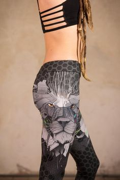 P { margin-bottom: 0.21cm; }      another  amazing masterpiece of our futuristic art designer Daka :)      The  Lion Leggings with our Cyberpunk Lion is made of soft poly knit. An  amazing soft material. In contrast to other subliminal printed  leggings this material looks organic and natural. You Festival Outfits, Festival Fashion, Woman Fashion, Fashion Art, Jedi Outfit, Boho Outfits, Fashion Outfits, Pixie Outfit, Dystopian Fashion
