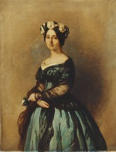 """Augusta of Saxe-Weimar, Princess of Prussia, later Queen of Prussia and German Empress (1811-90)"", Franz Xaver Winterhalter, 1846; Royal Collection Trust 406273"