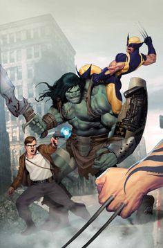 Skaar vs Wolverine