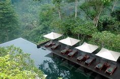 jardin-tropical-piscine-débordement-bains-soleil-végétation