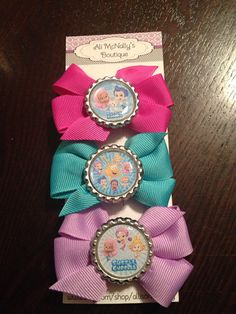 3607deccf9e Bubble Guppies Inspired Bow Set party favors by allisonmcnally