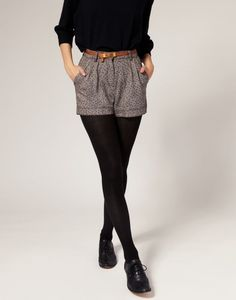 I& actually digging the shorts with tights look.- I& actually digging the shorts with tights look. Think I might try it out. I& actually digging the shorts with tights look. Think I might try it out. Pretty Outfits, Winter Outfits, Casual Outfits, Cute Outfits, Skirt Outfits, Pretty Clothes, Casual Shorts, Modest Shorts, Tailored Shorts