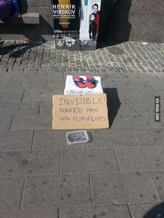 Saw this in Copenhagen today: Invisible naked man