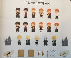 Harry Potter Stickers for Plum Paper Erin by ThisVeryCraftyMama