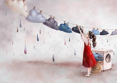 Illustrations By Korean Artist Show The Happiness And Tranquility Comes With Solitude Art Anime Fille, Anime Art Girl, Illustration Artists, Cute Illustration, Art Fantaisiste, Forest Girl, Korean Artist, Whimsical Art, Cute Drawings
