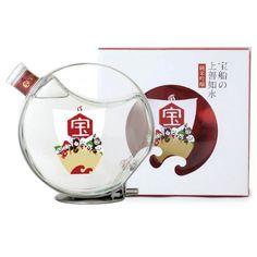 白瀧酒造 / 宝船の上善如水 純米吟醸. Some kind of fun Asian #liqueur in great bottle #packaging PD