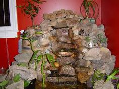 Indoor waterfall has quite unique value as interior decorating style that modern contemporary at high value of elegance and charming appearance with pleasing to the eyes and ears Indoor Wall Fountains, Indoor Pond, Indoor Fountain, Water Fountains, Rock Waterfall, Indoor Waterfall, Waterfall Fountain, Cheap Granite Countertops, Water Fountain Design