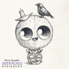 Scarecrow! #morningscribbles #halloween #october