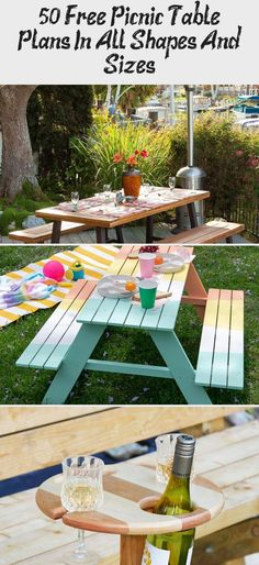 Free Picnic Table Plans In All Shapes And Sizes - woodworking projects beautiful Picnic Table Plans, Picnic Tables, Diy Wood Bench, Roof Covering, Wooden Decks, How To Level Ground, Barbecue, Vikings, Woodworking Projects