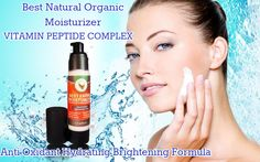 Best Facial Moisturizer Organic & Natural Face moisturizing daily cream - Vitamin C + E + B + A + peptide complex + Lavender + Rosemary + Black Tea + Kukui Oil- Anti aging & Anti wrinkle - Lotion for sensitive oily or dry rough itchy skin for women and men by Radiancee
