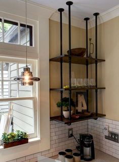 3 Tiers Shelve 14'' depth hanging from ceiling urban