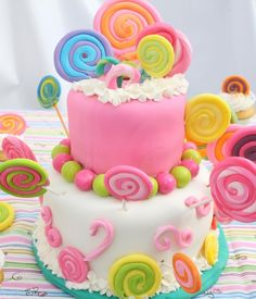 Lollipop cake. Perfect for a Candyland or Candy Shop birthday party.