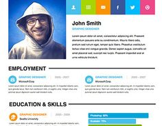 todays special is a great adobe muse personal resume theme this theme has been created