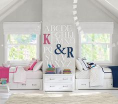 belden bed, but like this idea on the wall for letters alphabet