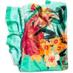 £ 6.99 This h shawl wis a great accessory  for summer outfits as it can be work as a scarf or shawl and the bright tropical prints will set off any plain colours.