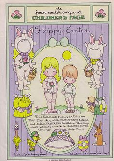 Joan Walsh Anglund's Easter paper dolls. (3)