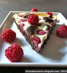 The divine raspberry cheesecake Die göttlichen Himbeer Cheesecake Brownies The Divine Raspberry Cheesecake Brownes after Tim Mälzer -