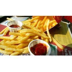 Ketchup switch-up at McDonald's ❤ liked on Polyvore featuring food