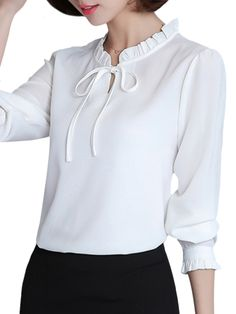 Dress Neck Designs, Blouse Designs, Formal Tops For Women, Classy Business Outfits, Womens Dress Suits, Fancy Tops, Blouses For Women, Casual Outfits, Fashion Dresses