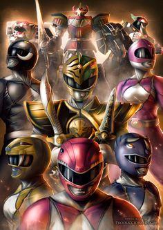 """Mighty Morphin Power Rangers """"Minha infância si resumindo em apenas essa Imagem """". Perfeito"""