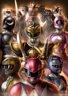 Mighty Morphin Power Rangers FanArt Tribute by RogerGoldstain on DeviantArt