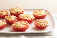 """Easy """"Baked"""" Tomatoes recipe -- I have baked these in the oven with a little Italian seasoning and they were delicious!!!!!"""