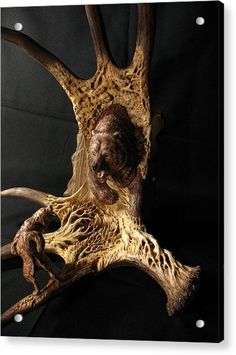 Realistic Deer Skull with Large Horns Elk Skeleton on Abstract Backdrop Print Large Size Decorative Tempered Glass Cutting and Serving Board Brown White Grey Lunarable Antler Cutting Board