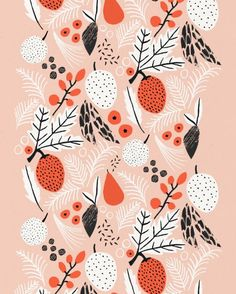 floral pattern by Abbey Withington Art And Illustration, Illustration Inspiration, Pattern Illustration, Floral Illustrations, Textile Patterns, Textile Design, Fabric Design, Print Design, Graphic Design