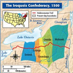 11AI2iroquois map World History Lessons, Us History, American History, Native American Mythology, Native American Indians, Native Americans, Iroquois, Independance Day, First Nations