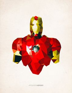 Polygon Heroes - Iron Man Art Print