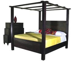 09 Dark Finish Canopy Bed by Madera 10 Show stopping Canopy Beds -- furniturefashion.com