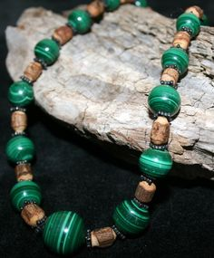 One of a kind Large Malachite Necklace!