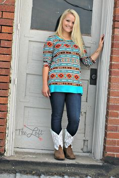Rich, vibrant colors in this 3/4 sleeve top...  it on our BUY ONE GET ONE HALF rack!  #ishoptheloft #fashion #love #style #ootd #mystyle #boutiquelove #trendy  #follow #cute #instadaily #photooftheday