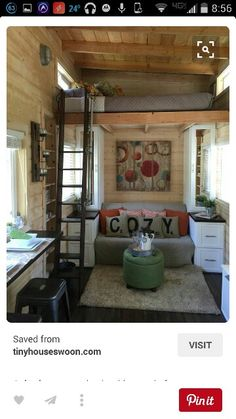 Awesome A Tiny House On Wheels With A Total Of Square Feet Including Loft  Of Living Space In La Mirada California With Living Spaces La Mirada.