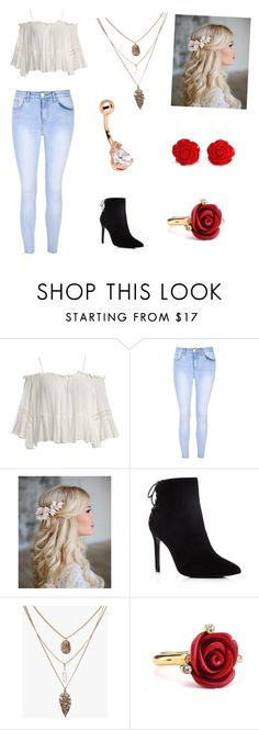 """The Everday Look"" by alygoolsby on Polyvore featuring Sans Souci, Glamorous, Charles David and Oscar de la Renta"