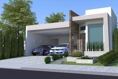 Planta de casa com área de lazer - Projetos de Casas - Modelos de Casas