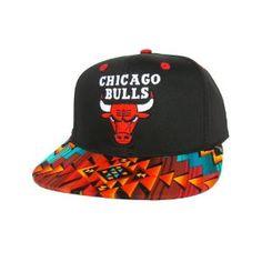 newest collection 1af13 bc1bb CHICAGO BULLS Snapback Hat - NBA Cap - Custom Snapback with Aztecs Stripe  Fabric   Original