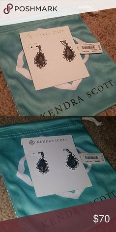 BOGO ! NWT KENDRA scott pyrite & gunmetal juniper Brand new. Comes with Kendra Scott dust bag. Sorry no trades. Kendra Scott Jewelry Earrings
