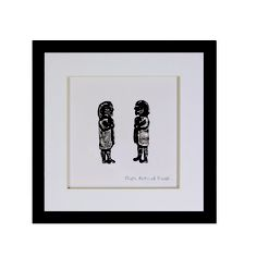 This Wild Goose piece is a lovely wedding Gift, its made in Co. Cork Ireland, and depicts a couple, the piece is called 'People Destined to Meet' - available in Gallery Crafts. See www.fionaturley.com for more details